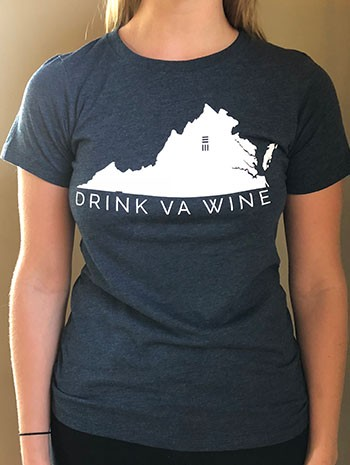 Ladies Navy DrinkVA Tshirt Image