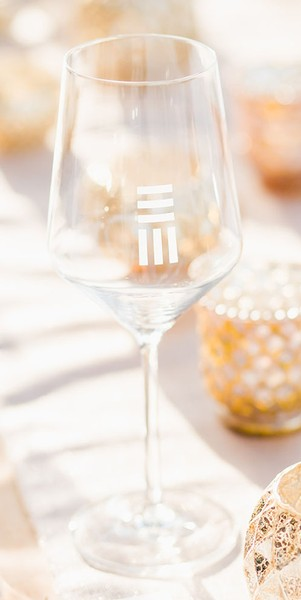 Logo Wine Glass, Small
