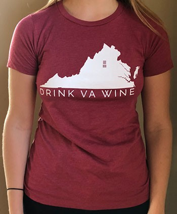 Ladies Scarlet DrinkVA Tshirt